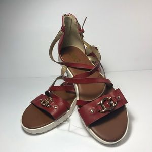 NEW GBG by GUESS Red Gladiator Sandals #7 M